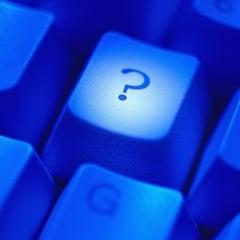 Question Mark Key on Computer Keyboard