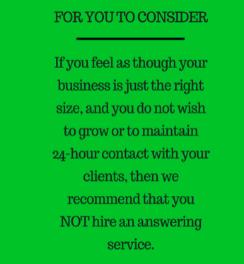 reasons why you should hire an answering service