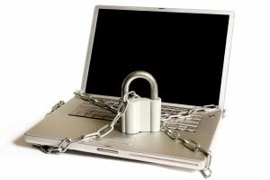 Laptop chain locked