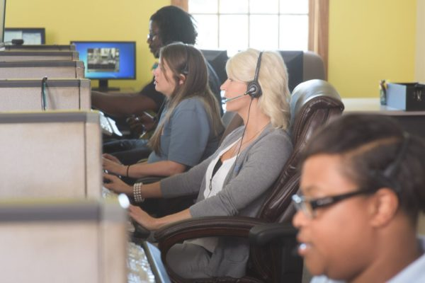 call operators for an answering service
