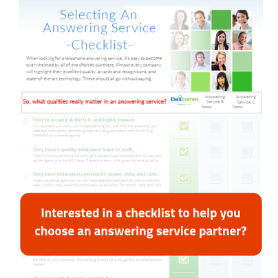 Selecting An Answering Service Checklist