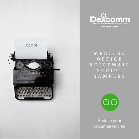 Voicemail script samples and examples