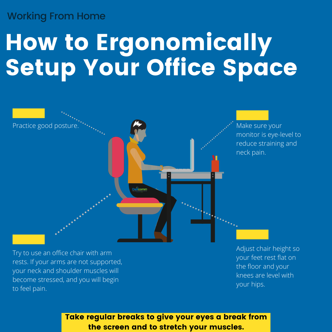 how to ergonomically set up your office space
