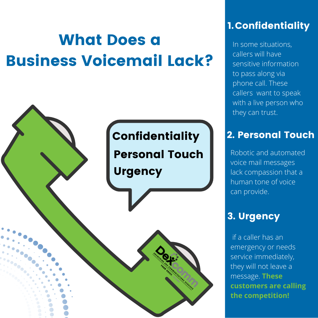 what does a business voicemail lack?