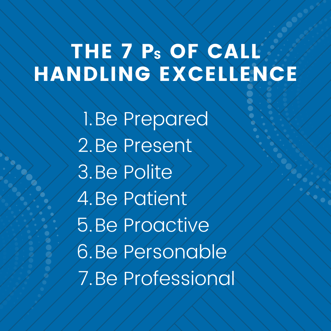 The 7 Ps of Call Handling Excellence