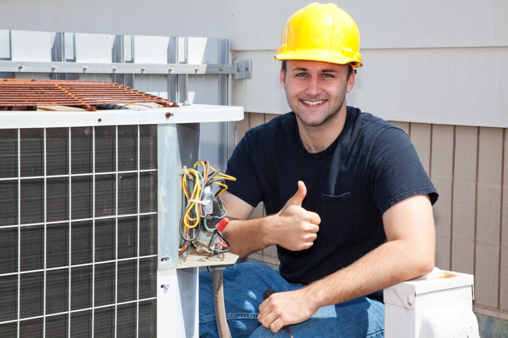 bigstock Air conditioning repairman